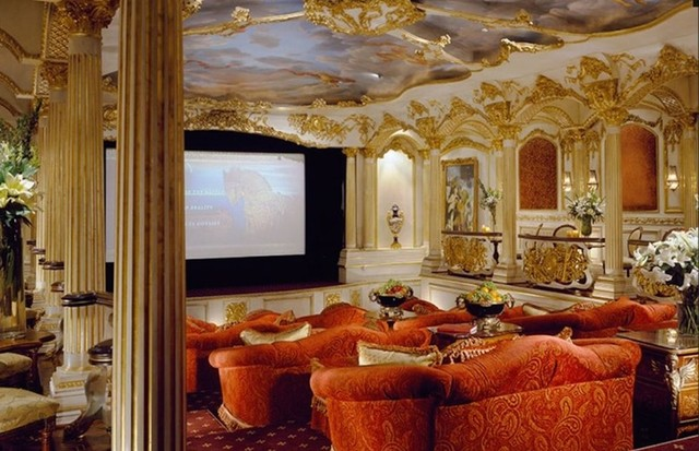 O cinema da mansão (Foto: Divulgação)