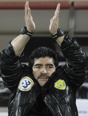 Diego Maradona técnico Al Wasl (Foto: AP)