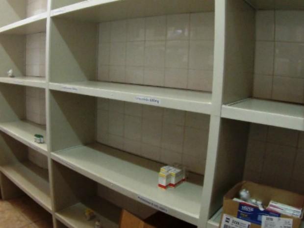 Vistoria identificou falta de remédios nas farmácias do Hcal (Foto: MP/Divulgação)