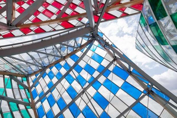Daniel Buren na Fondation Louis Vuitton  (Foto: Iwan Baan / Fondation Louis Vuit)