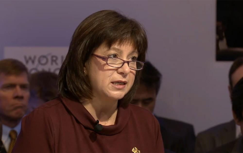 Natalia Ann Jaresko, ministra de Finanças da Ucrânia (Foto: Reprodução)