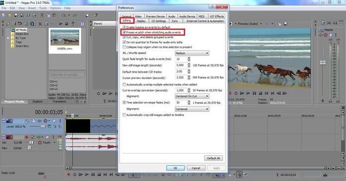 Clique em Editing e desmarque a caixa selecionada (Foto: Reprodução/Juliana Pixinine)