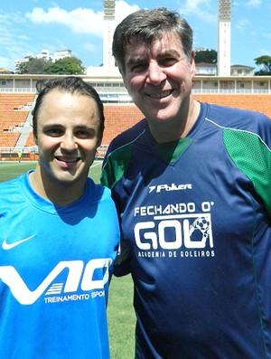 Felipe Massa e Zeti, Futebol dos Pilotos (Foto: Felipe Siqueira / Globoesporte.com)