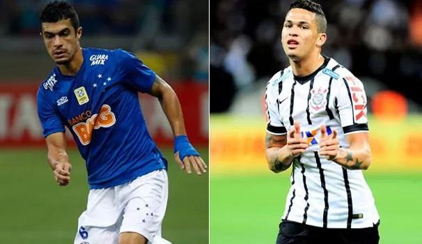 Egídio, do Cruzeiro, e Luciano, do Corinthians, medem forças na noite de quarta  (Foto: Divulgação)