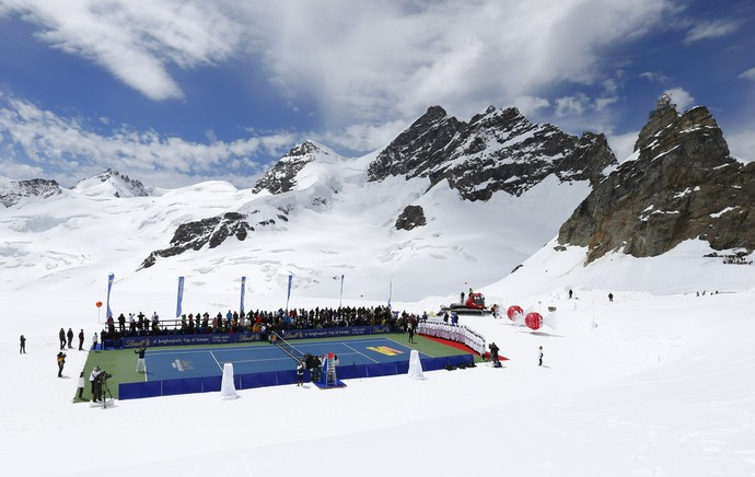 tenis roger federer lindsey vonn alpes suiços (Foto: Reuters)