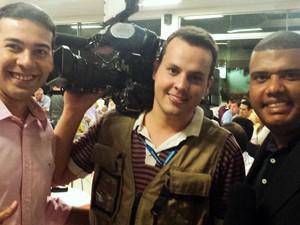 Equipe da TV Integração no Prêmio 'Garra Esportes' (Foto: Arquivo Pessoal)