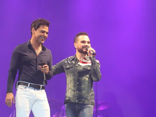 Zezé Di Camargo e Luciano em show em São Paulo (Foto: Thiago Duran/ Ag. News)