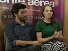 Caio Blat diz que Letícia Colin virou 'mulherão' em 'Ponte aérea'