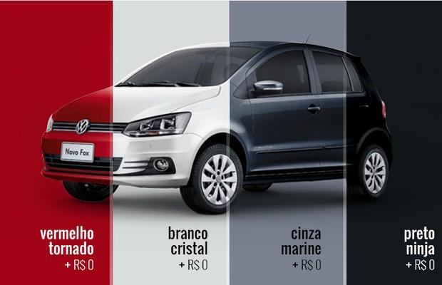 Volkswagen Fox_Cores (Foto: Autoesporte)