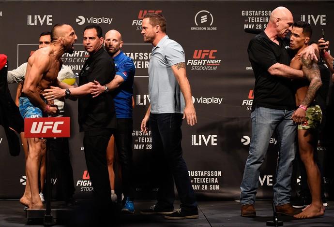 Reza Madadi Netto BJJ pesagem UFC Suécia (Foto: Getty Images)