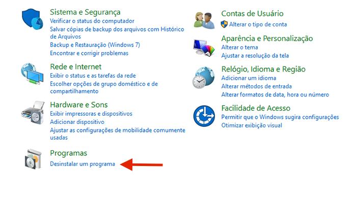 Acessando a ferramenta para desinstalar programas no Windows (Foto: Reprodução/Marvin Costa)