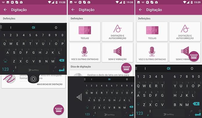 Teclado SwiftKey pode ser arrastado e adotar inúmeros formatos no Android (Foto: Reprodução/Elson de Souza)
