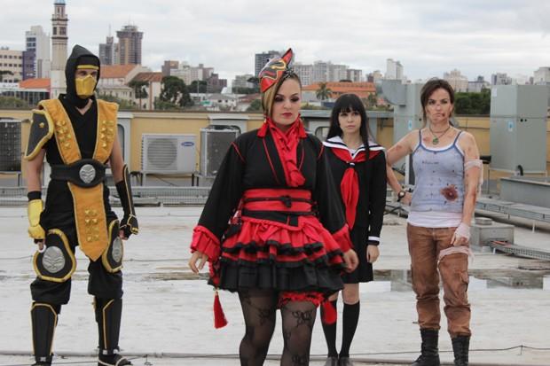 Personagens dos animes e dos games estarão no concurso de cosplay, do Imin Matsuri (Foto: Divulgação/RPC TV)