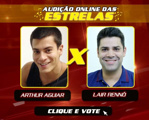 Arthur Aguiar e Lair Rennó disputam Semifinal da Audição Online das Estrelas (Foto: Foto: Gshow)