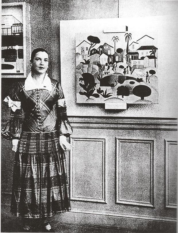 A artista em mostra de 1926 (Foto: Arquivo Pessoal)