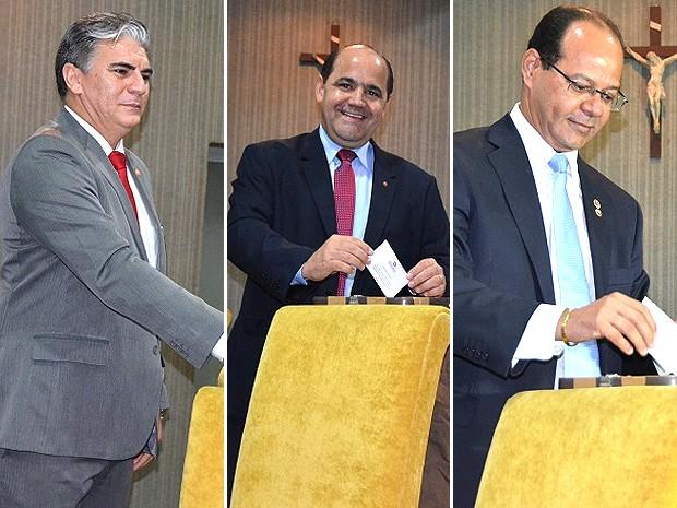 Promotores de Justiça José Augusto Gomes, Luís Gonzaga Coelho e Justino Guimarães formam lísta tríplice (Foto: Divulgação/MP-MA)