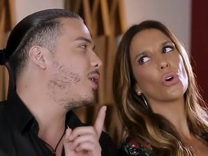 Ivete e Wesley Safadão se divertiram durante a gravação do clipe (Foto: Vídeo Show / Gshow)