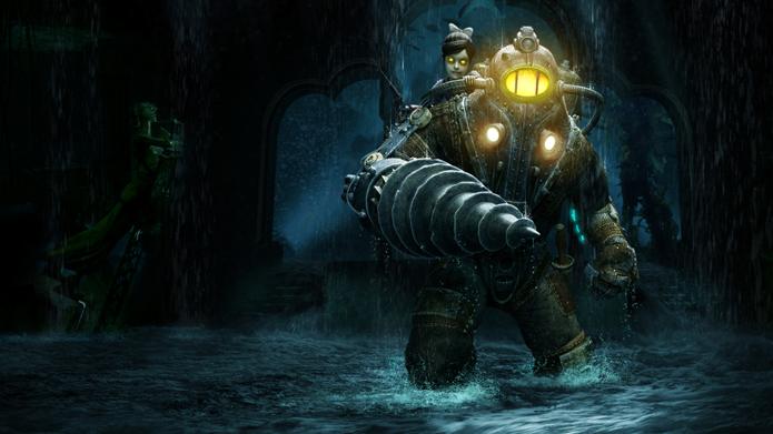Jogador controla um Big Daddy anônimo em BioShock 2. No primeiro jogo da série, os Big Daddys eram os principais inimigos (Foto: Divulgação/Take Two)