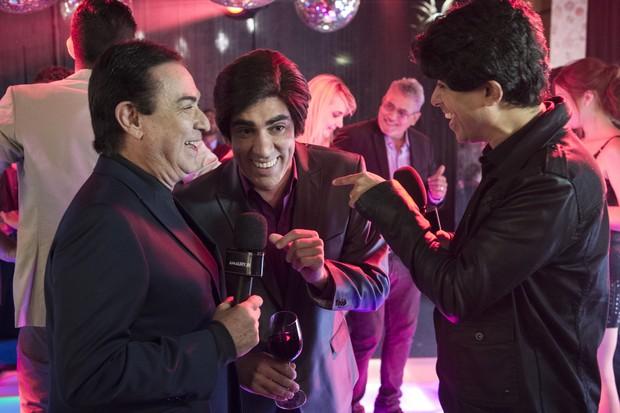 Amaury Jr., Marcelo Adnet e Marcius Melhem no Tá no Ar (Foto: Globo/Estevam Avellar)