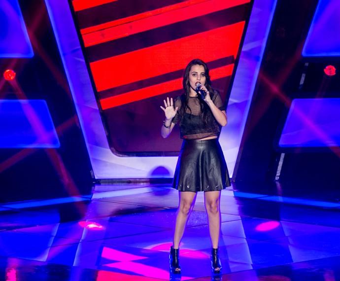 Allice Tirolla solta a voz na Audição do 'The Voice Brasil' (Foto: Isabella Pinheiro/Gshow)
