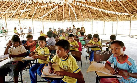 Tribo da etnia baré, no Amazonas (Foto: Jonne roriz/Estadão Conteúdo/AE)