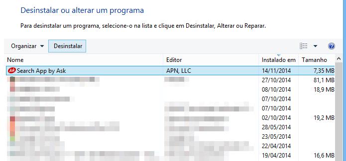 Search App by Ask também é instalado pelo RealPlayer Cloud (Foto: Reprodução/Helito Bijora)
