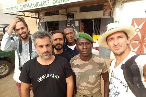 Bastidores das gravações de Que mundo é esse?, da GloboNews (Foto: Arquivo pessoal)