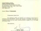 Temer diz a Moro que irá prestar depoimento sobre Cunha por escrito