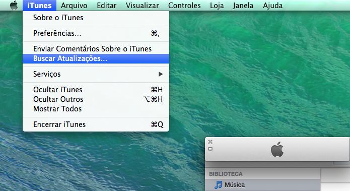 Verificando se há uma atualização para o iTunes no Mac (Foto: Reprodução/Edivaldo Brito)