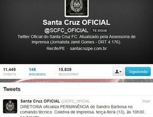Santa Cruz oficializa Sandro como técnico (Foto: Reprodução/Internet)