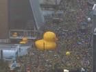 Manifestantes se reúnem em SP para pedir impeachment de Dilma