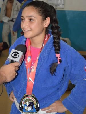Potiara Ribeiro, atleta da  Academia Extremo Norte de Lutas, trouxe ouro para Roraima (Foto: Rodrigo Litaif)