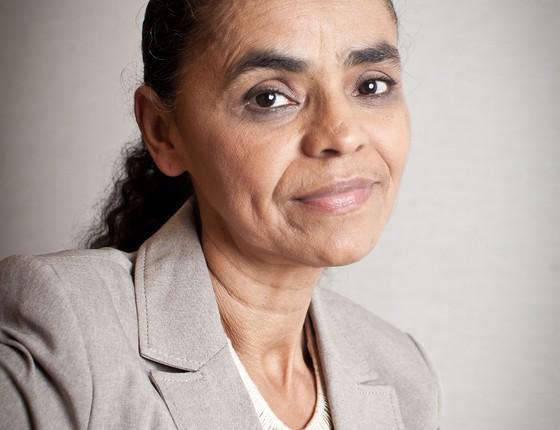 Marina Silva durante entrevista em São Paulo (Foto: Letícia Moreira/ÉPOCA)