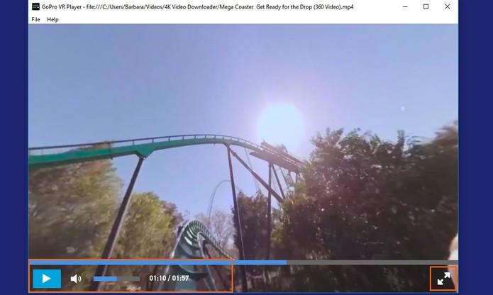 Controle a execução e volume do vídeo em 360 graus (Foto: Reprodução/Barbara Mannara)