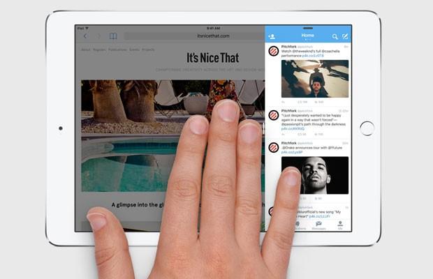 iOS 9, novo sistema operacional para dispositivos móveis da Apple, dará caráter multitarefa aos iPads. (Foto: Divulgação/Apple)