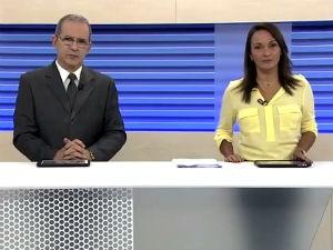 Gilvan Nunes e Liara Nogueira apresentam o BDA  (Foto: Reprodução/TV Gazeta)