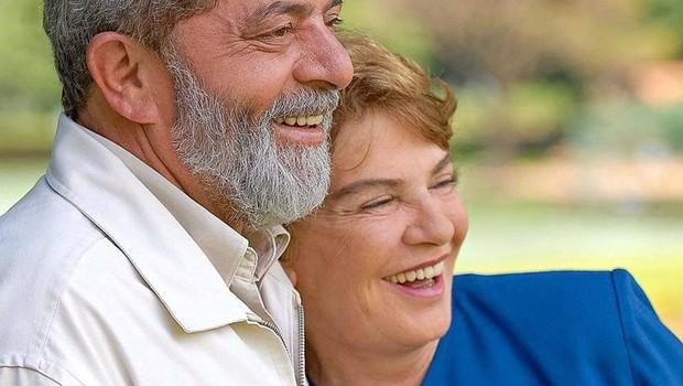O ex-presidente Luiz Inácio Lula da Silva ao lado de sua mulher, Marisa Letícia (Foto: Reprodução/Facebook)