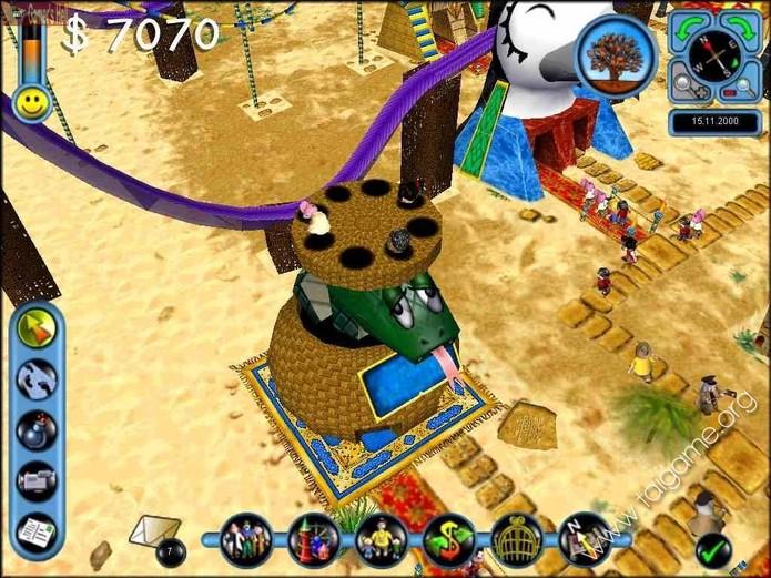Além dos PCs, Sim Theme Park também fez sucesso no PlayStation (Reprodução/YouTube)
