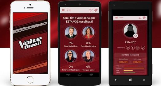 baixe o app... (The Voice Brasil / Gshow)