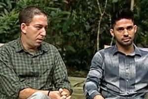 Glenn Greenwald e David Miranda (Foto: Reprodução/Jornal Nacional)