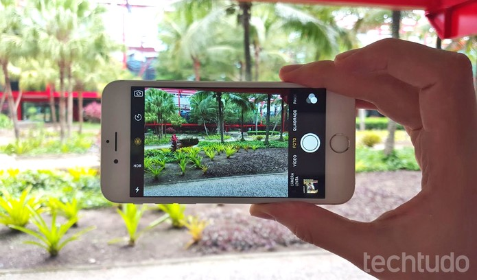 Câmera do iPhone 6S tem 12 megapixels (Foto: Thássius Veloso/TechTudo)