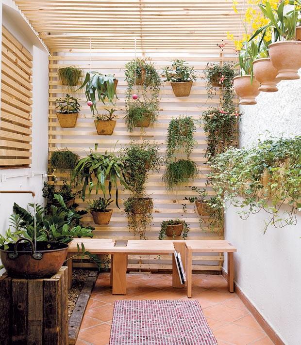 área gourmet , o jardim de inverno foi recheado com plantas de