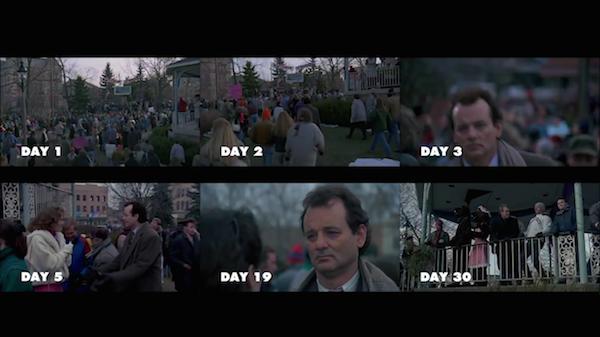 Bill Murray na montagem feita pelo fã de 'Feitiço no Tempo' (1993) (Foto: Reprodução)