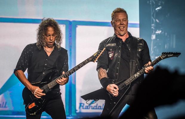 Metallica no Lollapalooza (Foto: Francisco Cepeda/AgNews)