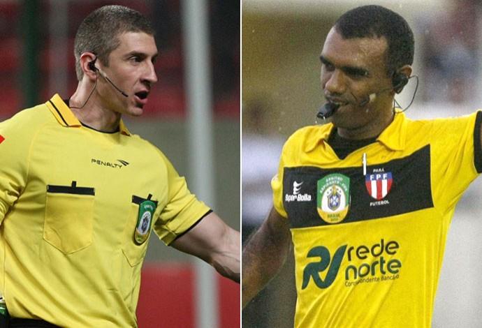 árbitros Anderson Daronco e Dewson Freitas (Foto: Editoria de Arte)
