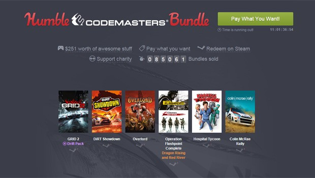 Humble Bundle oferece um pacote de games a partir de um dólar (Foto: Reprodução/Humble Bundle)