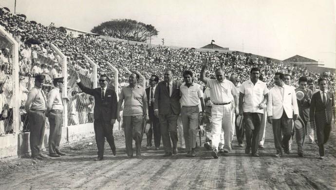 Estádio, XV de Piracicaba, Nhô Quim, Barão da Serra Negra Inauguração (Foto: Acervo Zinsly de Mattos)