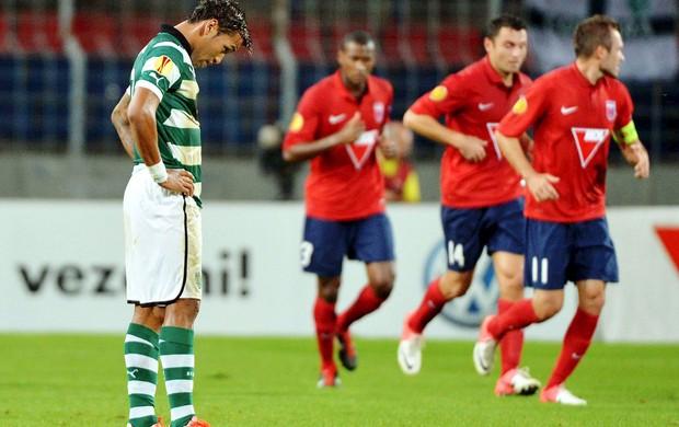 Andre Martins, Videoton x Sporting (Foto: Agência EFE)