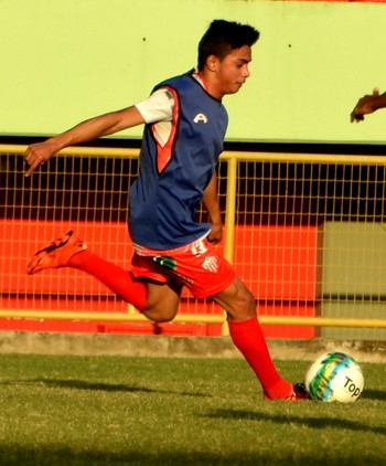 Juninho, atacante do Rio Branco (Foto: Nathacha Albuquerque)