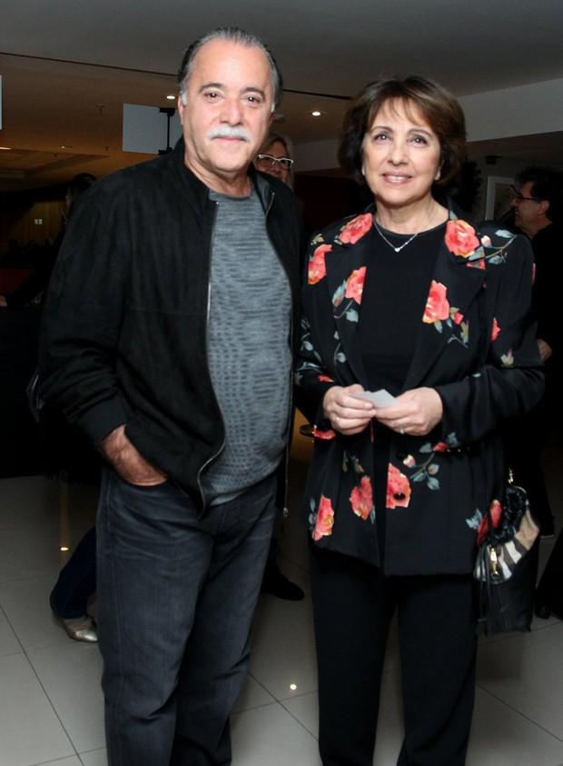 Tony Ramos e a mulher, Lidiane Barbosa (Foto: Marcello Sá Barretto/AgNews)